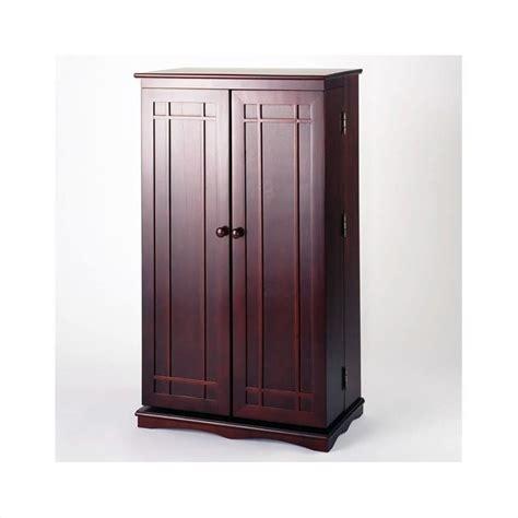 Cd Storage Cupboard - leslie dame cd dvd media storage cabinet w dr cherry