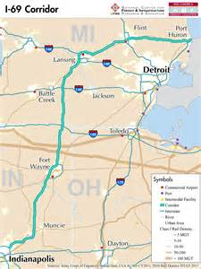 i 69 corridor map i 69 mid america freight coalition