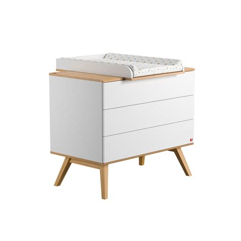 Changing Table Dresser White Dresser Nature White With Optional Changing Table By Vox