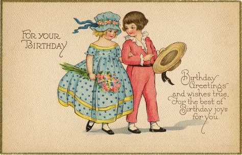 Images Vintage Birthday Cards Vintage Birthday Card Image The Graphics Fairy