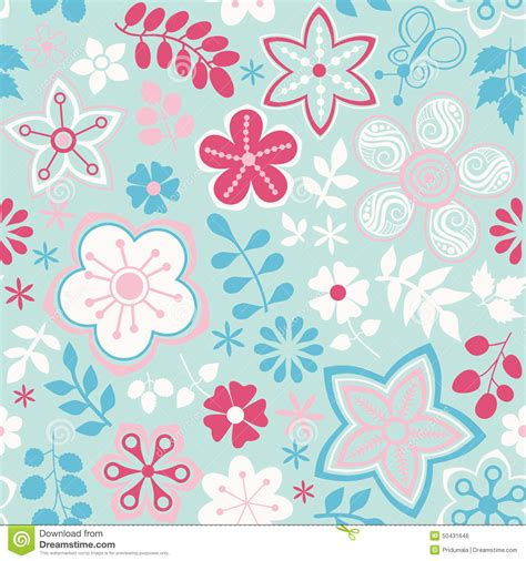 summer themes abstract floral background summer theme seamless pattern