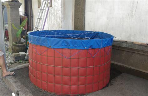Pipa Hdpe Untuk Wilayah Ntt Kalimantan Sumatera Bali kolam terpal bundar ukuran d1 5 t1 2 produsen kolam terpal untuk budidaya ikan