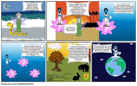 the story of world hindu creation story storyboard by tessag76