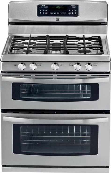 Oven Gas Stainless kenmore 78033 5 8 cu ft oven gas range stainless steel sears outlet