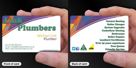 Plumbing And Heating Business Card Designs