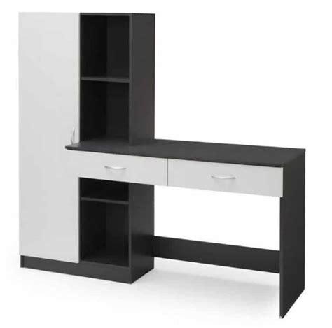 bureau 160 cm bureau 160 cm optim gris 224 133 95 sur cdiscount