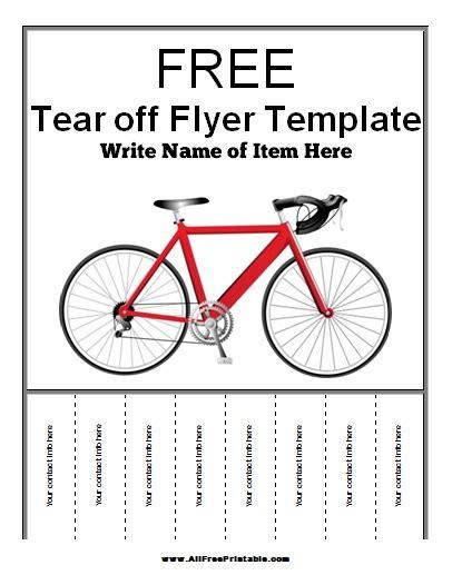 tear off flyer templates evozym com