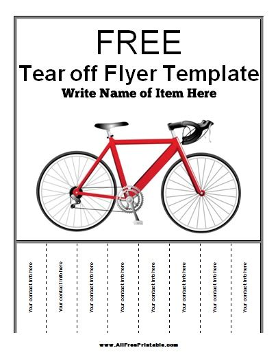 Tear Flyer Template Free Tear Off Flyer Template Free Printable Allfreeprintable Com