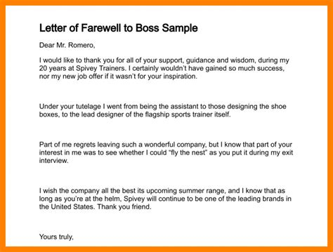thank you letter to your who is leaving farewell letter after leaving tomyumtumweb