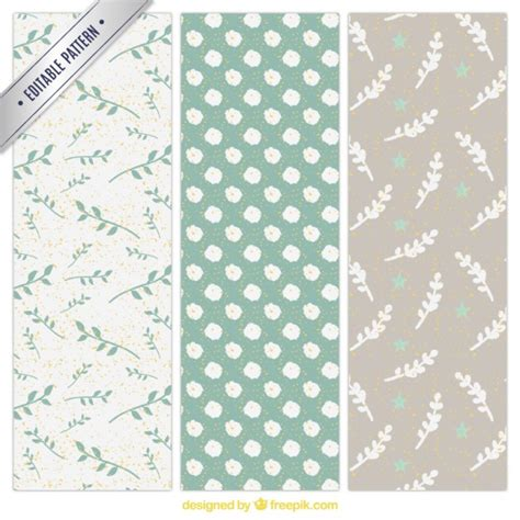 Cute Handpainted Pattern | cute hand painted floral patterns vector premium download