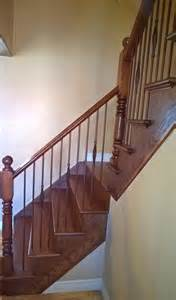 stairs capping refacing special walnut stain on oak