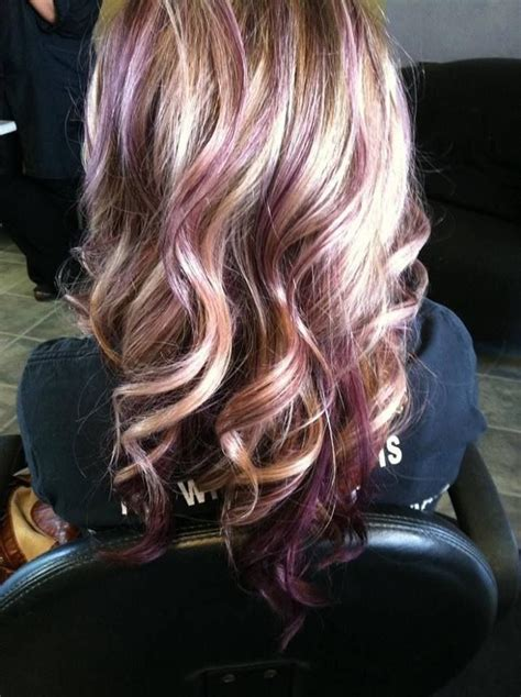 hairstyles with lavender highlights lavender highlights hair and makeup pinterest