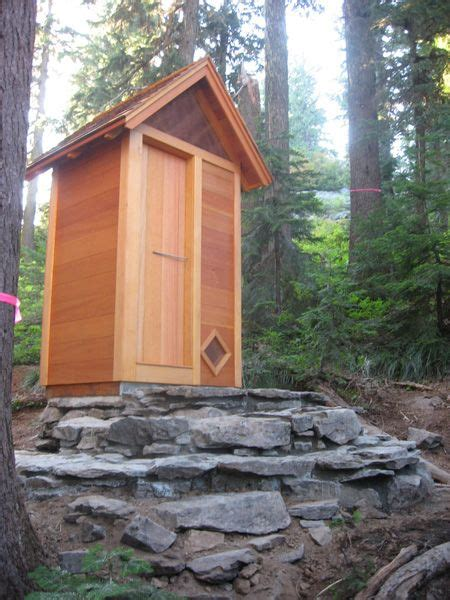 cedar outhouse beautifully built  cabin