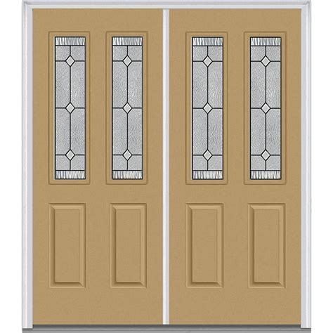 mmi door 74 in x 81 75 in classic clear glass 1 lite mmi door 74 in x 81 75 in carrollton decorative glass 2