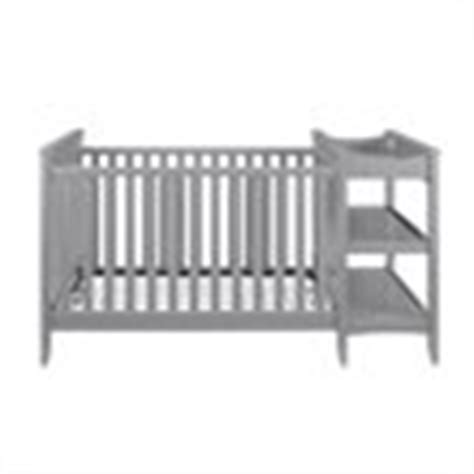 Gray Convertible Crib With Changing Table 2 In 1 Convertible Crib And Changing Table Combo Set In