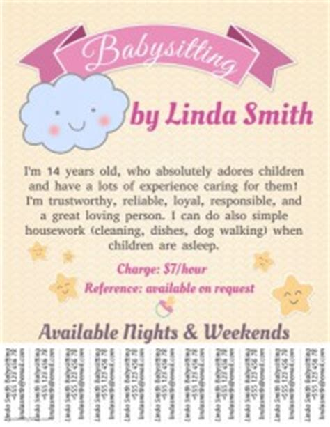 Babysitting Flyer Templates Postermywall Baby Sitting Flyer Template