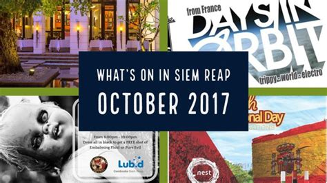 essential siem reap the must carry guide to the city and temples of angkor books what s on in october the best siem reap events in october