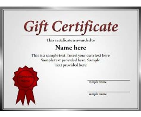 Free Certificate Templates For Powerpoint Gift Certificate Template Powerpoint