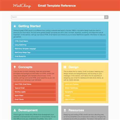 mailchimp template introducing mailchimp s email template reference