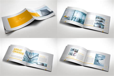 horizontal brochure template modern horizontal brochure by mikingers on deviantart