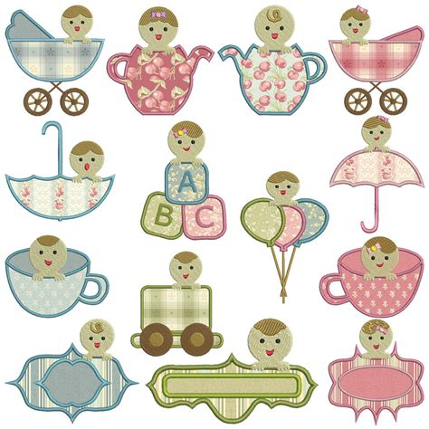 Embroidery Applique Design by Peek A Boo Baby Machine Applique Embroidery Patterns