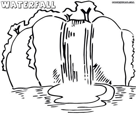 Waterfall Coloring Page waterfall coloring pages coloring pages to and print