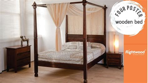 mission solid mango wood 4 post bed with canopy frame wooden four poster bed rightwood bedroom interior