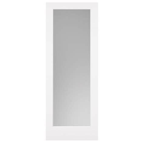 Solid Wood Interior Doors Home Depot masonite 30 in x 84 in primed 1 lite solid wood interior