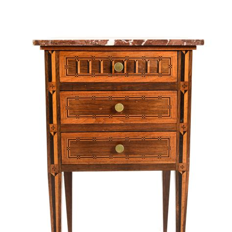 Antique Marble Top Nightstand by Antique Inlaid Marble Top Nightstand Circa 1910 Ft 542b