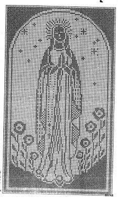 imagenes religiosas a crochet esquema de la virgen de guadalupe en punto de cruz
