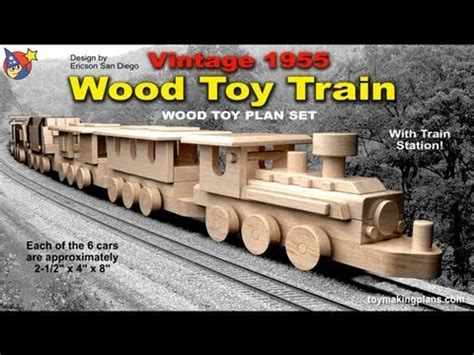 wood toy plans vintage  wood toy train youtube