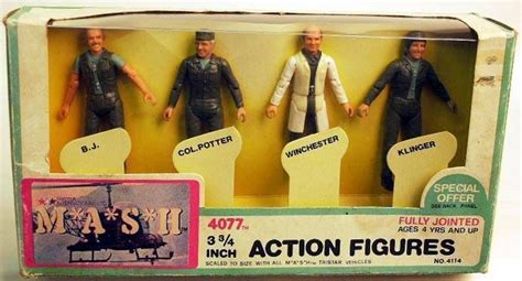 m a s h figures m a s h figures 4 pack collector set mego