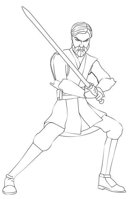 Obi Wan Coloring Pages obi wan kenobi coloring pages coloring pages