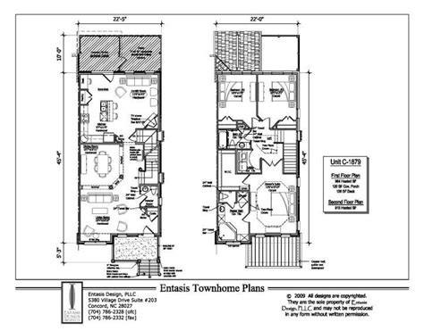 townhouse blueprints townhouse plans ideas for the house pinterest townhouse