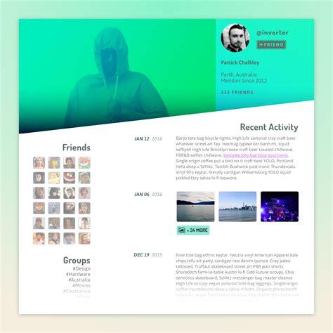 design brief user profile daily ui 006 user profile deconstructor design and