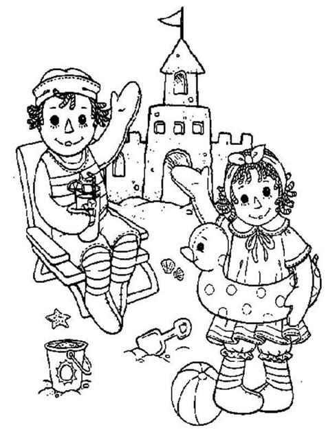 coloring book pages raggedy 268 best images about redwork children on