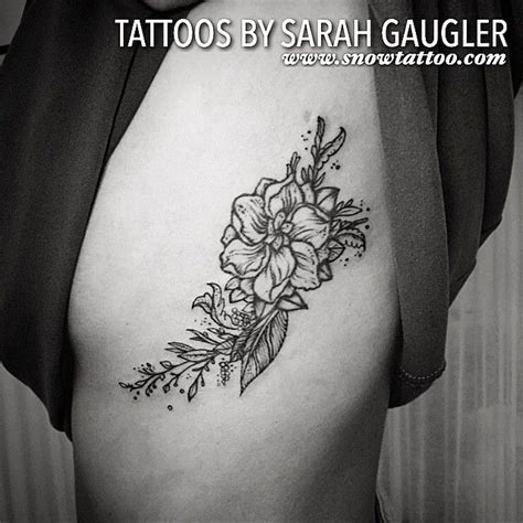 christian tattoo artists new york custom designed black ink floral flower detailed line art