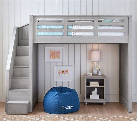 Baby Bedroom Decor catalina stair loft bed pottery barn kids
