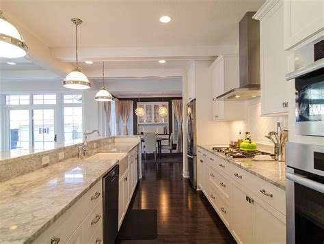 galley kitchen designs with white cabinets home design ideas