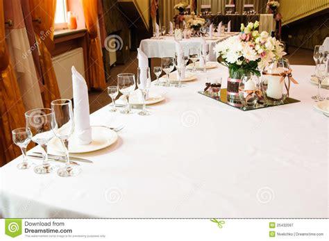 wedding dinner table setting table setting for wedding dinner royalty free stock