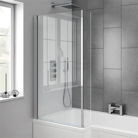 shower bath 1700 milan square 1700mm shower bath with screen mdf panel