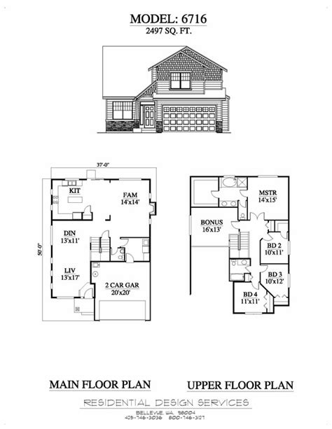 multi residential house plans exle6716