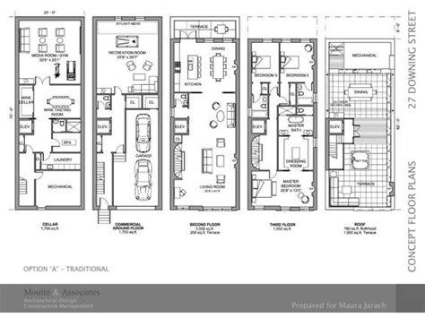 Philadelphia Row Home Floor Plan With Garage by Brownstone House Floor Plans Home Design And Style