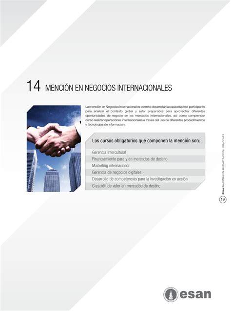 Mba Esan Precio by Mba De Esan Menciones 2012