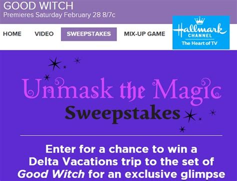 hallmark channel unmask the magic sweepstakes sweeps maniac - Hallmark Channel Sweepstakes 2015