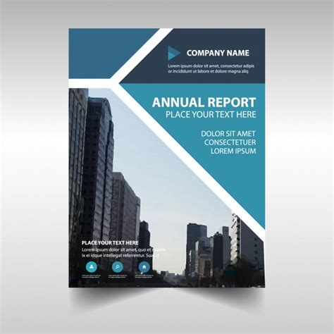 creative report templates blue creative corporate annual report template vector