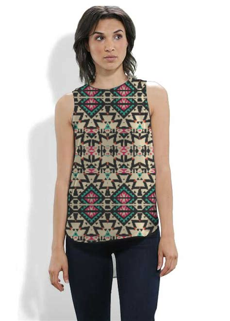 Sleeveless Tribal Top 1 tribal mix sleeveless top