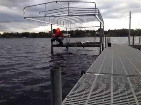 daka boat lift daka boat lift with screw jack legs leveling made easy