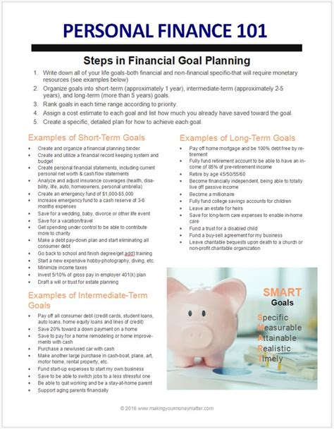 Term And Term Goals For Mba In Finance by Best 25 Term Goals Ideas On May