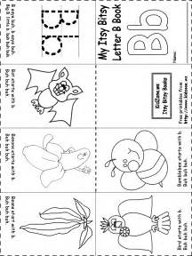 Itsy bitsy book beginning sounds letter b